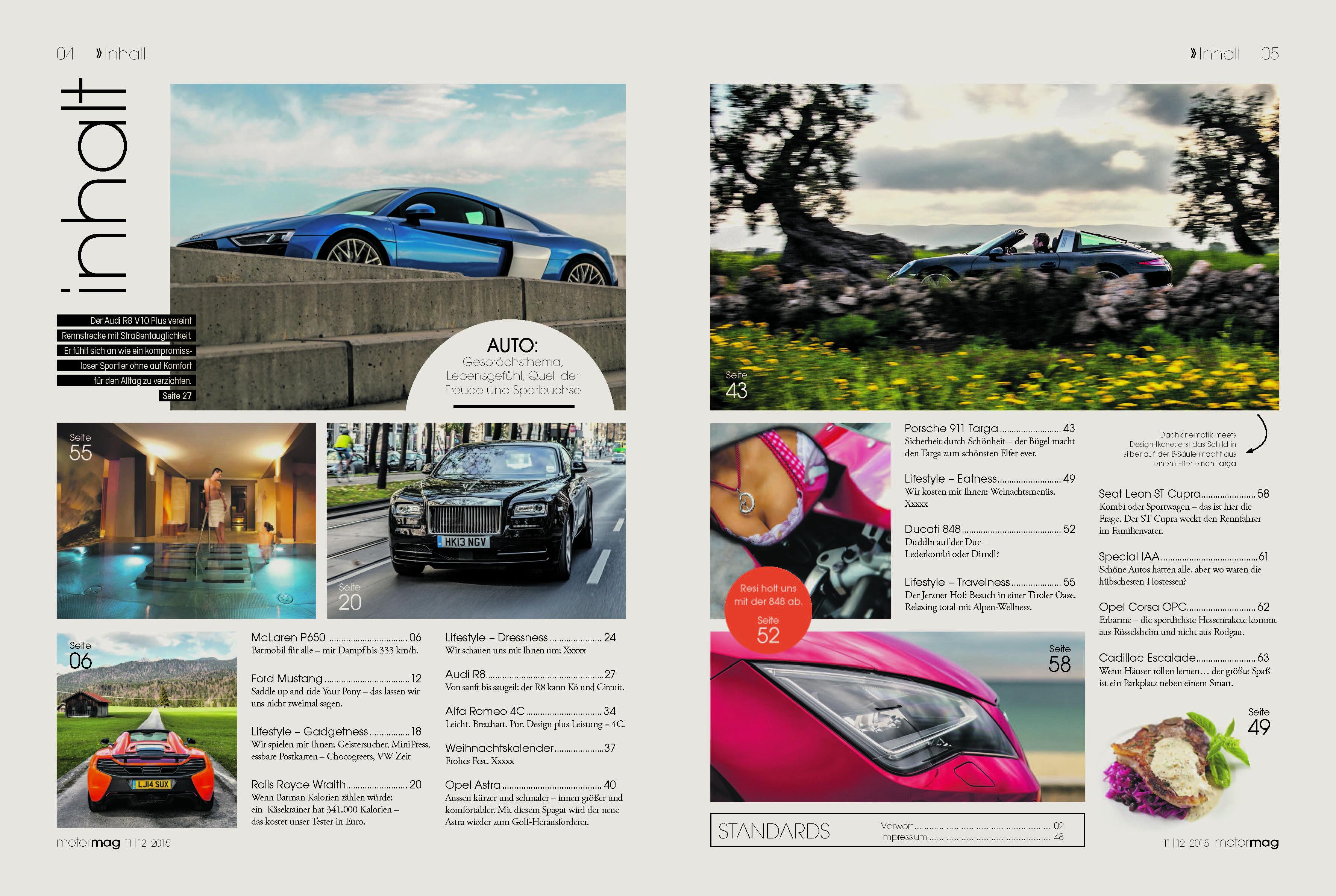 Inhalt der zweiten Ausgabe von MotorMag