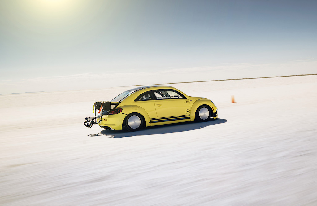 Rekordrenner - der VW Beetle LSR mit Spitze 328km/h