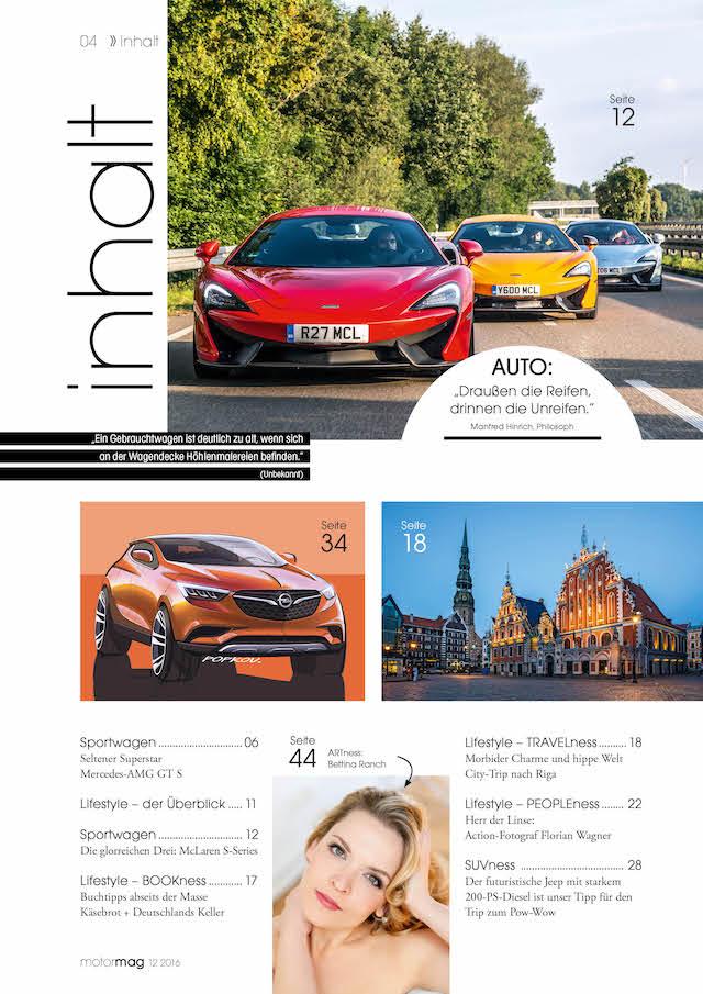 Kurzer Blick in den MotorMag Inhalt von Ausgabe 06