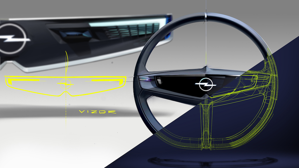 Opel GT X Experimental Vizor Lenkrad