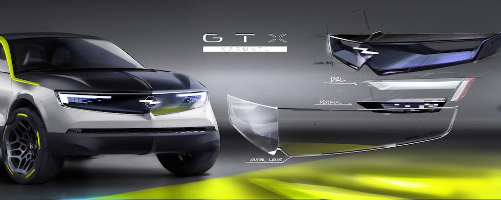 Opel GT X Experimental Vizor technisch 4stufig